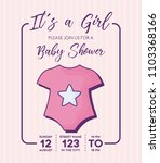 baby shower design | Shutterstock .eps vector #1103368166