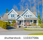 custom built big luxury house...   Shutterstock . vector #110337086