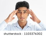 portrait of concentrated indian ... | Shutterstock . vector #1103376302