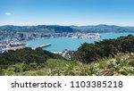 wellington harbour new zealand | Shutterstock . vector #1103385218
