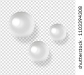 shiny natural white sea pearls... | Shutterstock .eps vector #1103394308