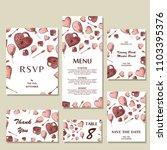 set of wedding invitations.... | Shutterstock .eps vector #1103395376