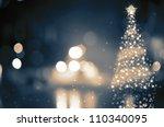 Shinny Christmas Tree  Abstract ...