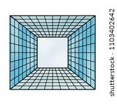 tunnel cube virtual reality | Shutterstock .eps vector #1103402642