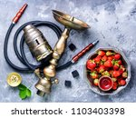 oriental hookah with the aroma... | Shutterstock . vector #1103403398
