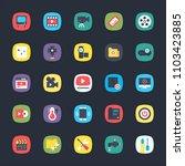 app flat icons set | Shutterstock .eps vector #1103423885