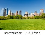 central park at sunny day  new... | Shutterstock . vector #110342456
