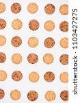 cookies background. chocolate... | Shutterstock . vector #1103427275