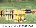 Fireworks Mortar Tubes Set Up...