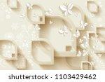 3d rendering background with...   Shutterstock . vector #1103429462