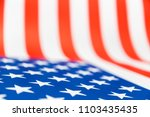 close up of paper usa flag ... | Shutterstock . vector #1103435435