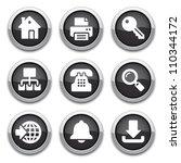 black internet buttons | Shutterstock .eps vector #110344172