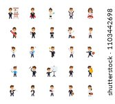 business characters flat icons... | Shutterstock .eps vector #1103442698
