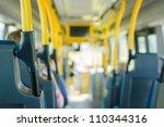 modern city bus interior | Shutterstock . vector #110344316