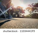 close up legs and shoes of... | Shutterstock . vector #1103444195
