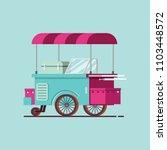ice cream cart flat style | Shutterstock .eps vector #1103448572