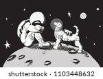 the best friend will help. the... | Shutterstock .eps vector #1103448632