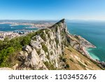 Aerial view of top of gibraltar ...