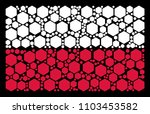 poland flag pattern composed of ... | Shutterstock .eps vector #1103453582