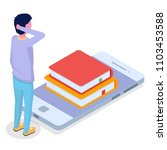 online education isometric... | Shutterstock . vector #1103453588