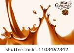 liquid chocolate  caramel or... | Shutterstock .eps vector #1103462342
