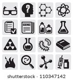 vector black science icon set... | Shutterstock .eps vector #110347142