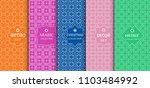 set of seamless line patterns ...   Shutterstock .eps vector #1103484992