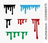 flows of color paint liquid oil ... | Shutterstock .eps vector #1103485475