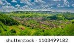 the village evangelical...   Shutterstock . vector #1103499182