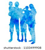 blue watercolor silhouette... | Shutterstock .eps vector #1103499908