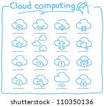 pure series   hand drawn cloud... | Shutterstock .eps vector #110350136