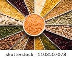 indian beans pulses lentils...   Shutterstock . vector #1103507078