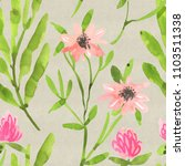 seamless watercolor floral... | Shutterstock . vector #1103511338