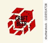 modern craft beer drink vector... | Shutterstock .eps vector #1103514728