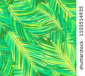 seamless pattern of palm leaves.... | Shutterstock .eps vector #1103514935