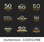 50th anniversary celebration... | Shutterstock .eps vector #1103521988