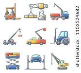 lifting machine equipment icons ... | Shutterstock .eps vector #1103524682