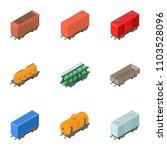 railway wagon icons set.... | Shutterstock .eps vector #1103528096