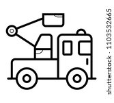 truck crane icon  | Shutterstock .eps vector #1103532665