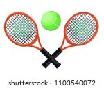 two tennis rackets with green... | Shutterstock .eps vector #1103540072