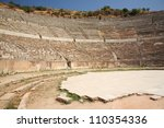 EPHESUS, TURKEY June 2008 The Great Theater at Ephesus, Turkey June 26 2008.  Ephesus was an ancient Greek city, and later a major Roman city and one of the largest cities in the Mediterranean world. - stock photo