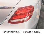 closeup red car taillight | Shutterstock . vector #1103545382
