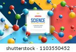 science banner with square... | Shutterstock .eps vector #1103550452