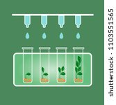 biology laboratory equipment ... | Shutterstock .eps vector #1103551565