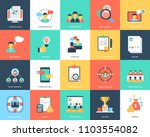 project management flat icons... | Shutterstock .eps vector #1103554082