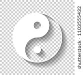 yin yan symbol. white icon with ... | Shutterstock .eps vector #1103555432