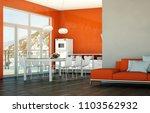 dining room interior design...   Shutterstock . vector #1103562932