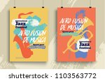 vector poster for a jazz... | Shutterstock .eps vector #1103563772