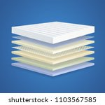 layered orthopedic mattress... | Shutterstock .eps vector #1103567585