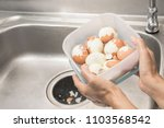 quick way to peel many hot boil ... | Shutterstock . vector #1103568542